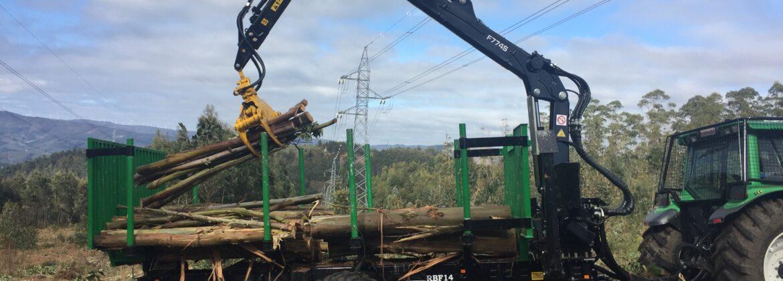 maquinaria forestal, trabajos forestales, grúas fuerte